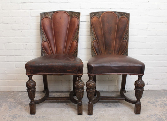 Pair of Oak Art Deco Style Chairs