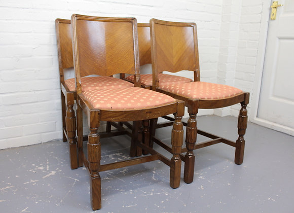 Set of 4 Art Deco Dining Chairs