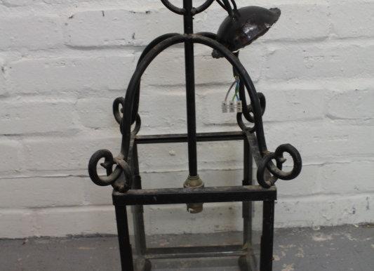 Single Wrought Iron Ceiling Lantern