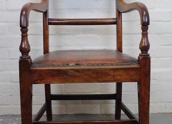Polished Mahogany Desk Chair