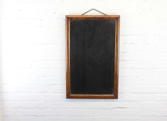 Victorian Small Oak Frame Mirror