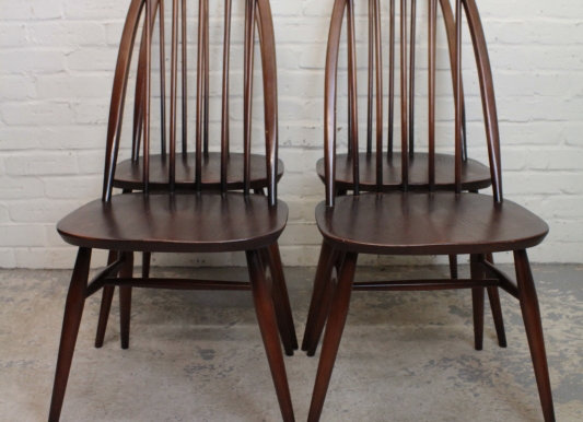 Set of 4 Golden Dawn Ercol Chairs