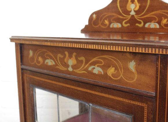 Edwardian Mahogany Inlaid Display Cabinet