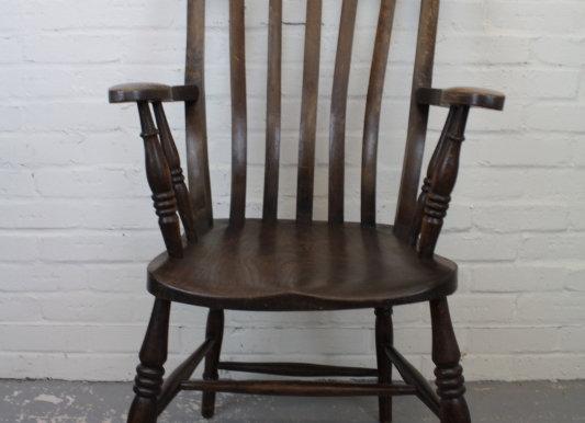 Early C20th Elm Seated Farmhouse Style Armchair