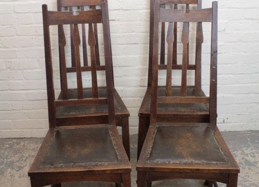 Wylie & Lockhead Oak Dining Chairs