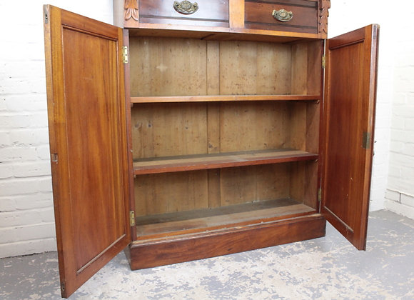 George III Mahogany Two Door Fitted Bookcase