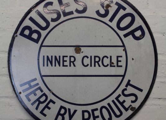 'Inner Circle' Enamel Sign
