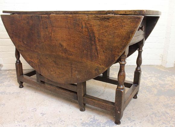 George II Low Seated Oak Gateleg Table