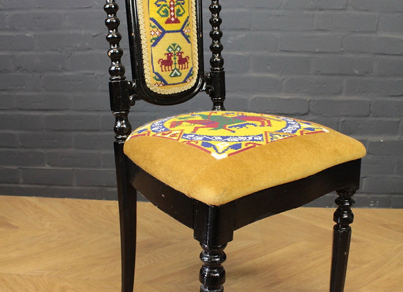 Needle Point Painted Chair
