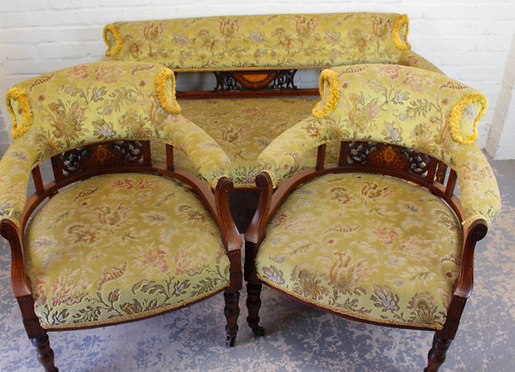 Victorian Inlaid Rosewood Salon Suite
