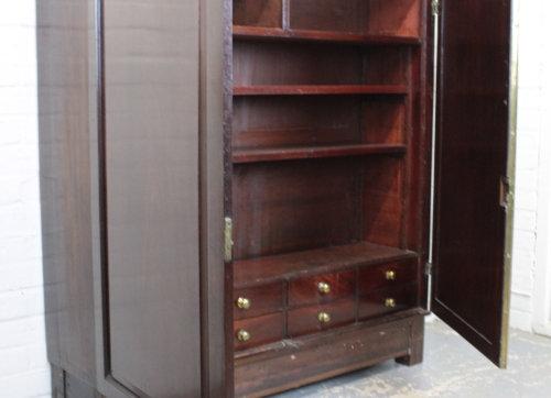 Victorian Mahogany Two Door Floor Cupboard