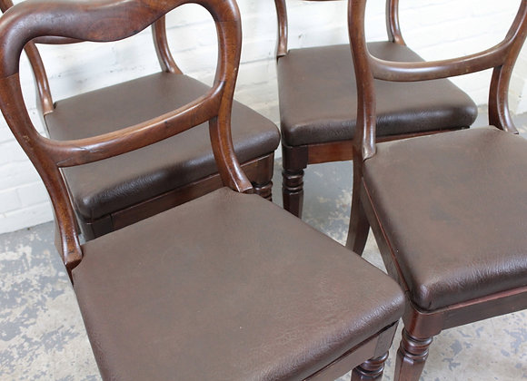 Set of 4 Kidney Back Dining Chairs