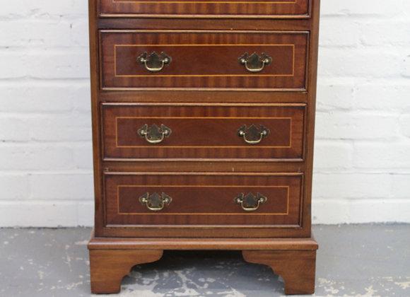 Modern Mahogany Veneer Pedestal of Drawers