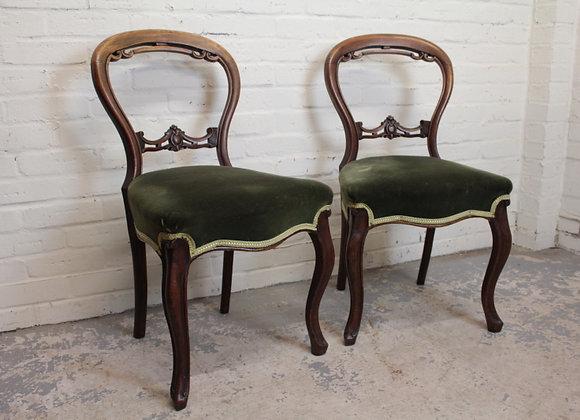 Pair of Mahogany Balloon Back Salon Chairs