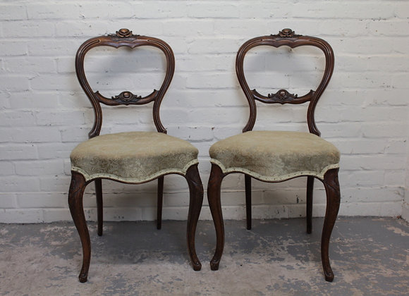 Pair of Continental Style Occasional Chairs