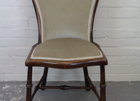 Edwardian Mahogany Occasional Chair