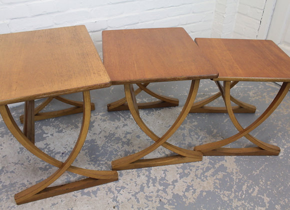 Nathan Nest of Teak Occasional Tables