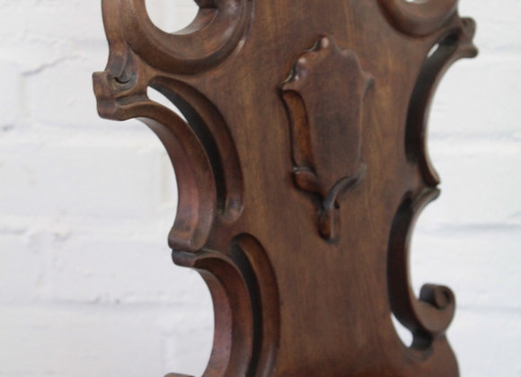 Mahogany Hall Chair with Scrolled Borders