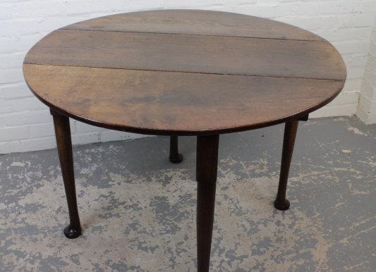 Antique Georgian Irish Oak Drop Leaf Table
