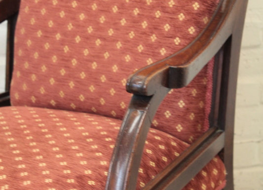 Victorian Mahogany Salon Style Chair