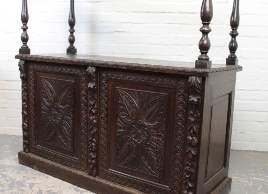 Oak Buffet in Jacobean Revival Style
