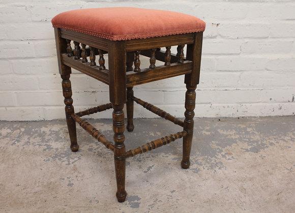 Victorian Beech Upholstered Stool