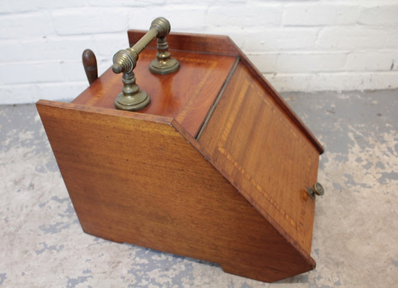 Late C19th Mahogany Coal Scuttle with Scoop