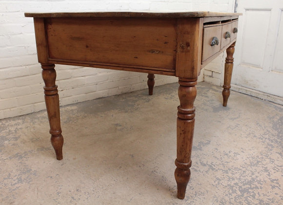 Early C20th Farmhouse Pine Serving Table