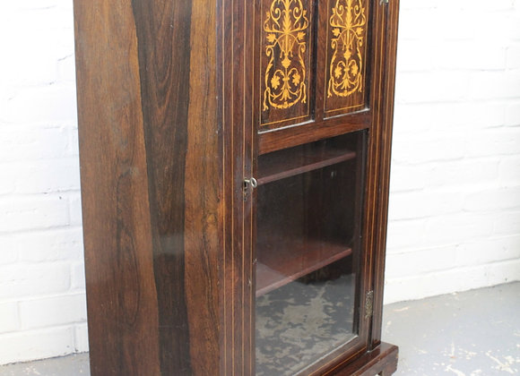 Rosewood and Marquetry Music Cabinet