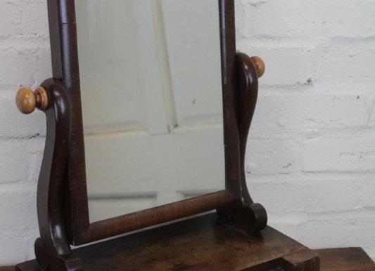 Mahogany Vanity Swing Mirror