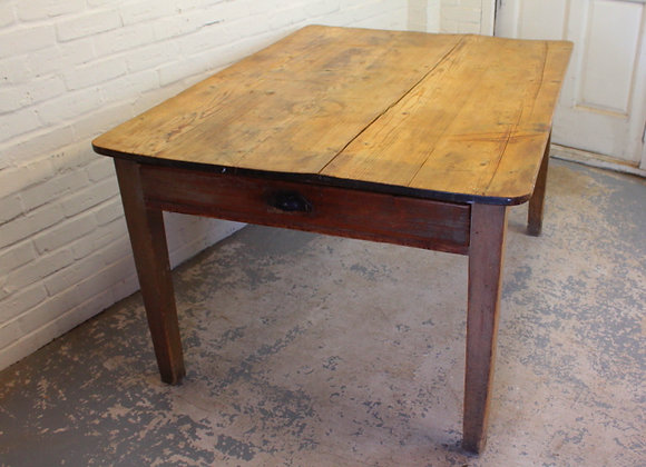 Victorian Pine Farmhouse Style Kitchen Table