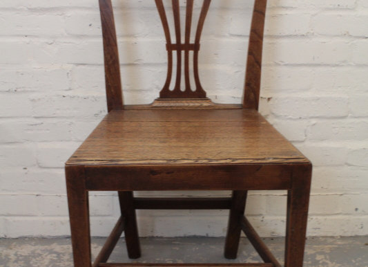 Georgian Elm Hepplewhite Style Chair