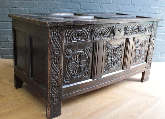 Jacobean Revival Oak Coffer