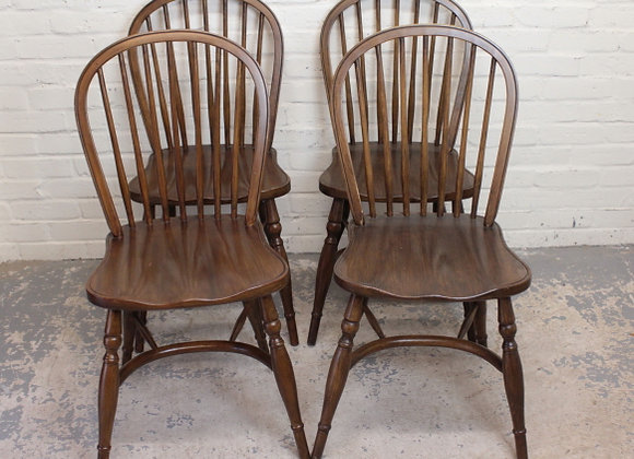 Set of 4 Victorian Style Spindle Back Chairs