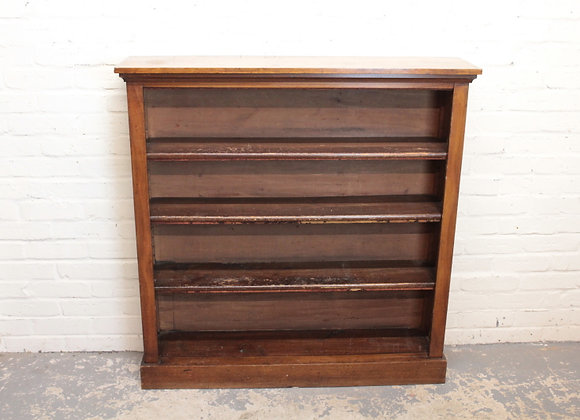 Victorian Open Bookcase with 3 Shelves
