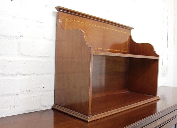 Desk Top Set of Mahogany Shelves