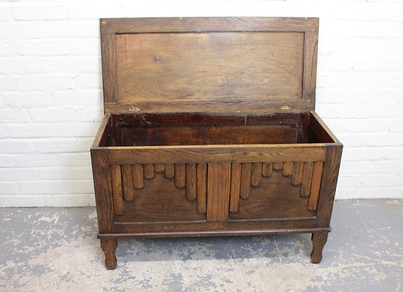 Art Deco Oak Blanket Box