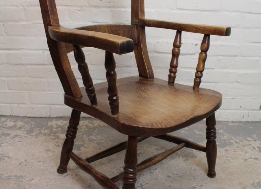 Victorian Elm and Ash Elbow Chair