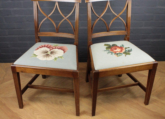Pair of Reed Back Chairs