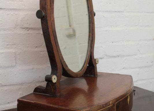 Georgian Mahogany Vanity Mirror