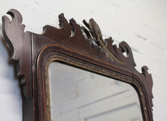 Chippendale Style Wall Mirror with Carved Cresting