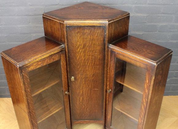 Art Deco 3 Tier Corner Cupboard