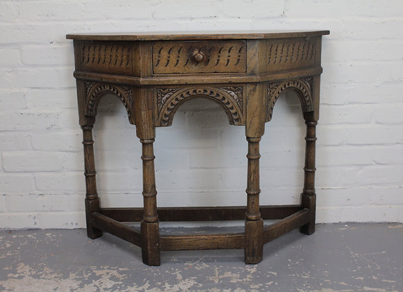 Reproduction Oak Credence Side Table
