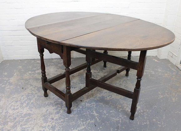 Georgian Oak Gateleg Dining Table