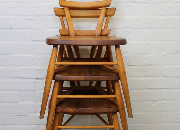 Set of 3 Stacking Children's Chairs by Ercol
