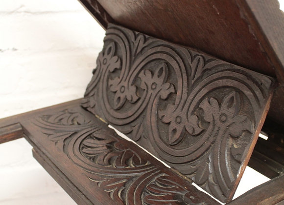 Carved Oak Lectern Table