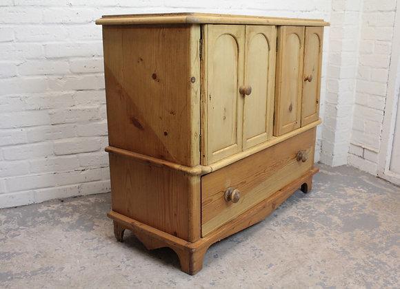 Antique Style Pine Storage Cabinet