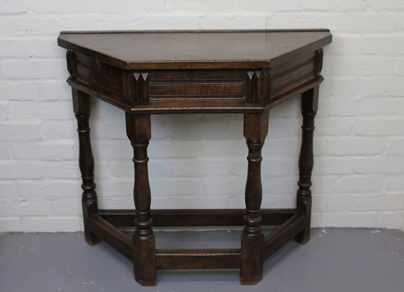 Oak C17th Stretchered Console Table
