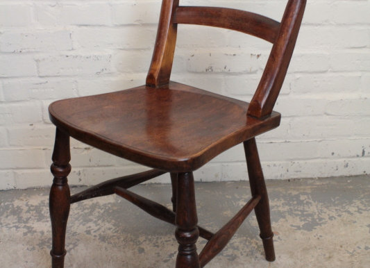 Single Victorian Bar Back Chair