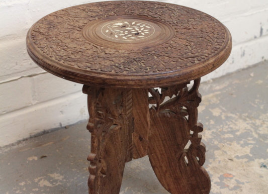 Pair of Anglo Indian Hardwood Tables